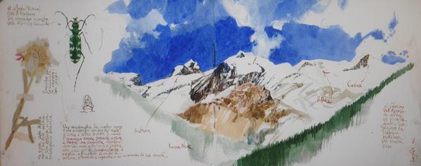 Di roccia e di cielo, stage di acquerelli con Stefano Faravelli