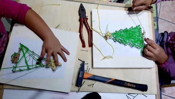 ArtigianatONLINE - PRIME PROVE DI STRING ART
